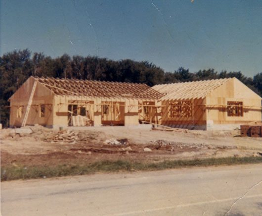 Building the base in 1967