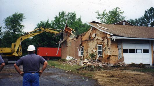 Fast forward to 2000 and demolition of the original base.