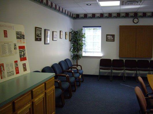 A boardroom at the base