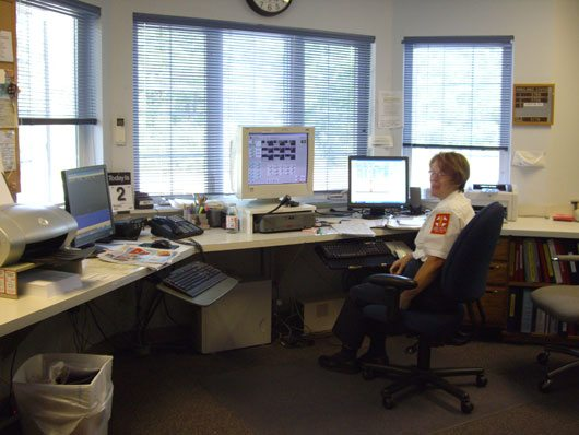 The dispatcher office